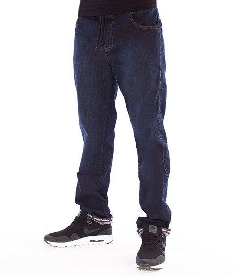 Patriotic-D1 Laur Pelt Spodnie Jeansowe Ciemny Niebieski