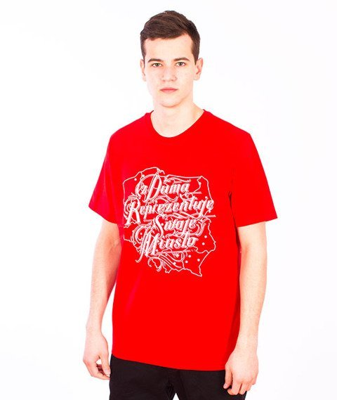 Patriotic-Duma T-shirt Czerwony