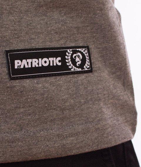Patriotic-Fonts Pion T-shirt Szary