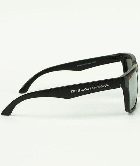 Patriotic-Futura Slim Okulary Czarne/Srebrne