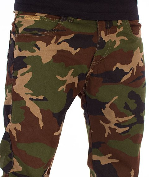 Patriotic- Jogger Spodnie Materiałowe Woodland Camo