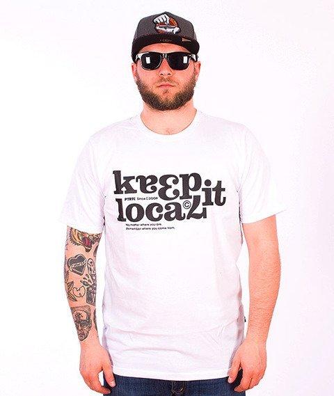 Patriotic-Keep It T-shirt Biały