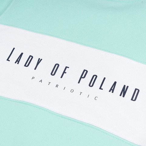 Patriotic Lady of Poland Bluza Damska Miętowy