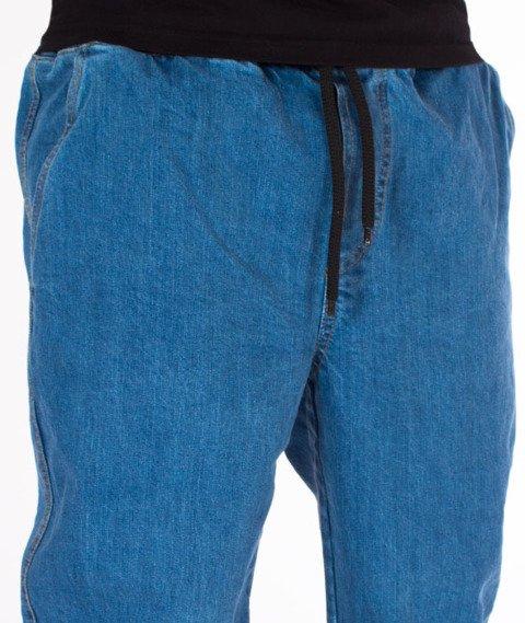 Patriotic-Laur Pelt Spodnie Jeansowe Jogger Niebieskie