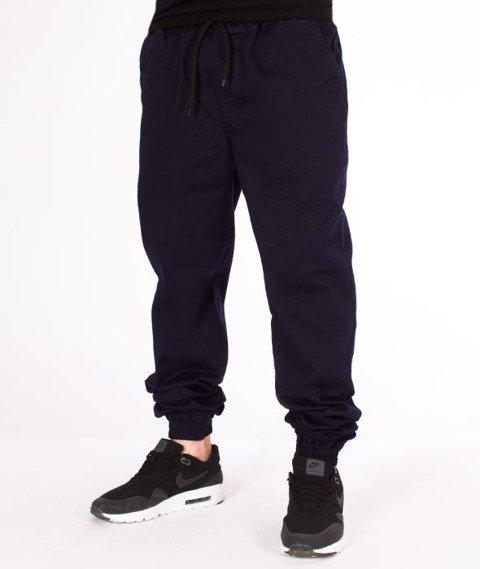 Patriotic-Laur Pelt Spodnie Materiałowe Jogger Granat