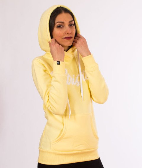 Patriotic-Liquid Bluza Kaptur Damska Pudrowy Żółty