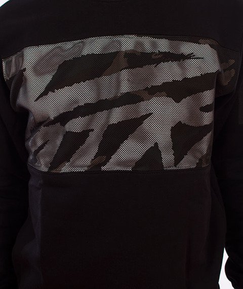 Patriotic-Mesh Tag Box Bluza Czarny/Woodland Camo