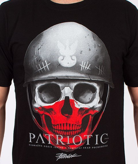 Patriotic-New Skull T-Shirt Czarny