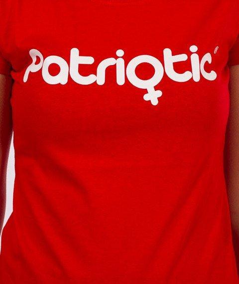 Patriotic-Pat Girl T-shirt Damski Czerwony
