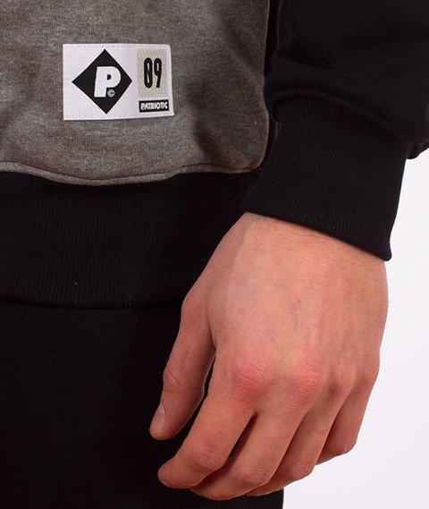 Patriotic-Shoulder Bluza Szara/Czarna/Czerwona