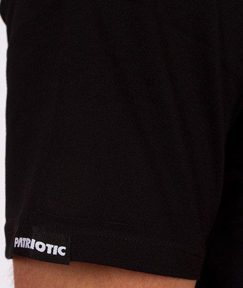 Patriotic-Sticker T-shirt Czarny