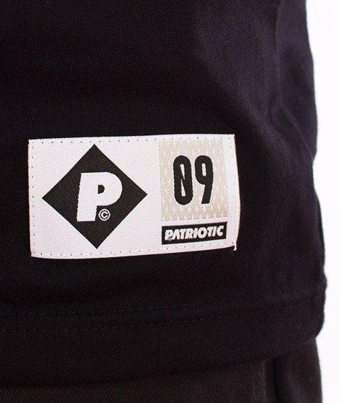 Patriotic-Tag Shoulder T-shirt Czarny/Melanż