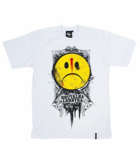Pihszou-Brutalna Leksyka T-shirt Biały/Żółty