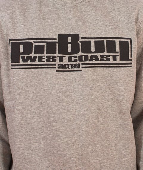 Pit Bull West Coast-Basic Crewneck Bluza Szara