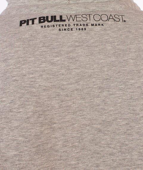 Pit Bull West Coast-Basic Hoodie Bluza Kaptur Szara