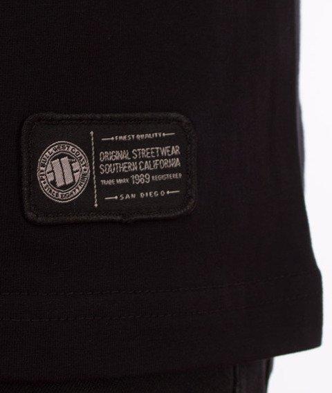 Pit Bull West Coast-California Dog T-Shirt Czarny