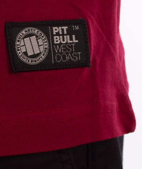Pit Bull West Coast-Classic Boxing T-Shirt Burgundy