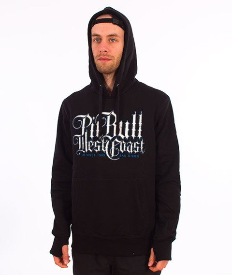 Pit Bull West Coast-Hooded Skull Dog 18 Bluza Kaptur Czarna