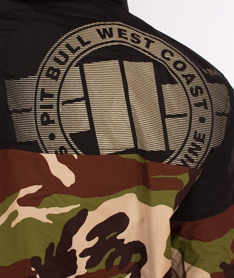 Pit Bull West Coast-Hooded Windbreaker Homelands 2 Kurtka Wiatrówka Woodland Camo