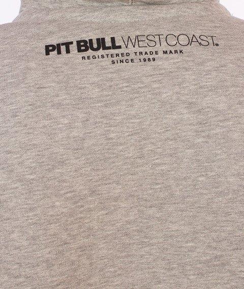 Pit Bull West Coast-Logo Hoodie Bluza Kaptur Szary