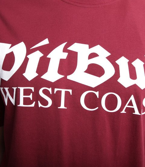Pit Bull West Coast-Old Logo T-Shirt Burgundowy