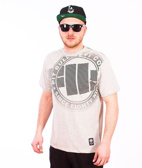 Pit Bull West Coast-Raster Logo T-Shirt Grey Melange