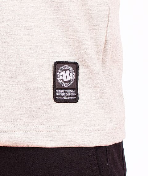 Pit Bull West Coast-Raster Logo T-Shirt Grey Melange