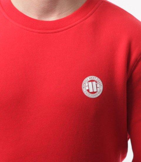 Pit Bull West Coast-Small Logo Crewneck Bluza Red