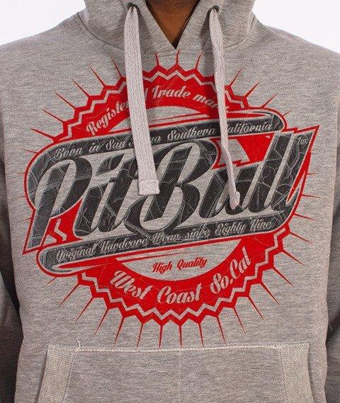 Pit Bull West Coast-Stamp Hoodie Bluza Kaptur Szara