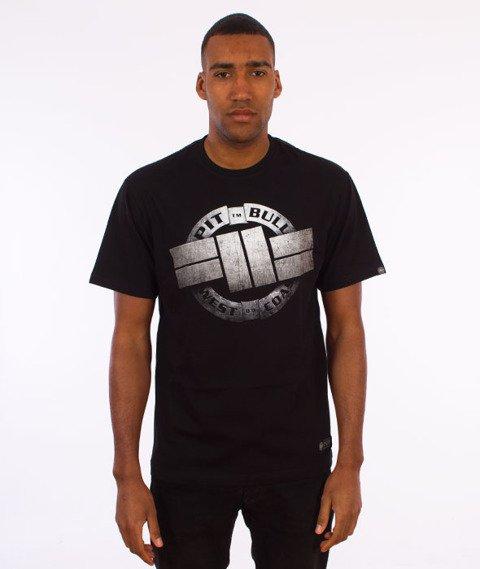 Pit Bull West Coast-Steel Logo T-Shirt Czarny
