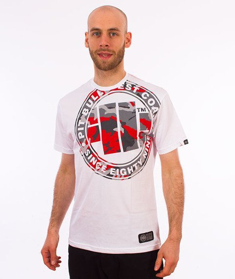 Pit Bull West Coast-Urban Camo T-Shirt Biały