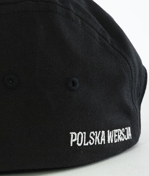 Polska Wersja-PW Kwadrat Czapka 5-Panel Czarna