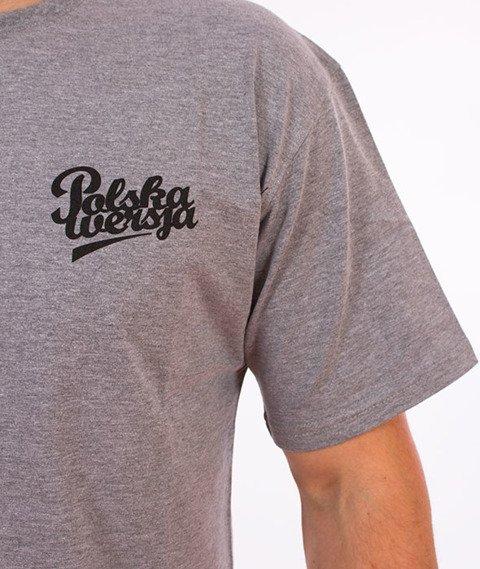 Polska Wersja-Small Logo T-Shirt Szary
