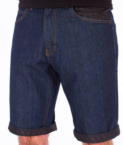 Polska Wersja-Szorty PW Jeans Spodnie Krótkie Dark Blue