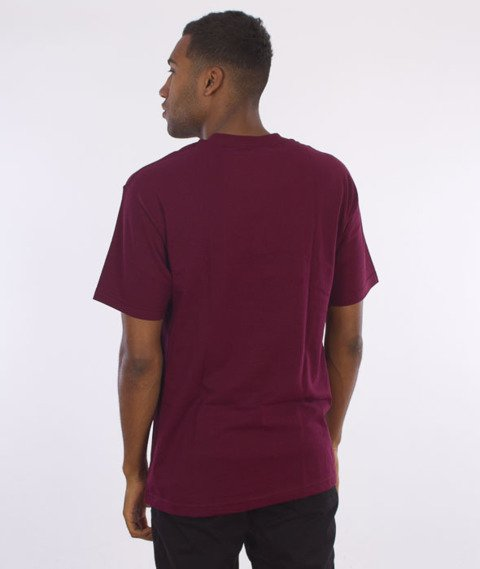 Primitive-Classic P T-Shirt Bordowy