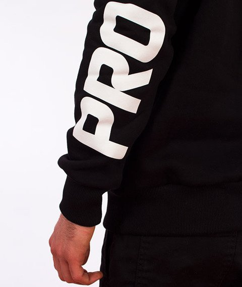 Prosto-Cuff Crewneck Bluza Czarna