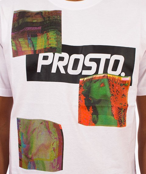 Prosto-Don't Stop The Glitch T-Shirt Biały