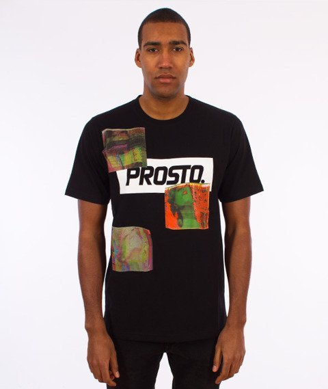 Prosto-Don't Stop The Glitch T-Shirt Czarny