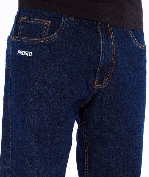 Prosto-Flavour Jeans Baggy Spodnie Navy
