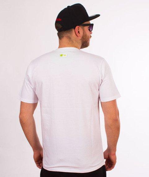 Prosto-Jaquard T-Shirt Biały
