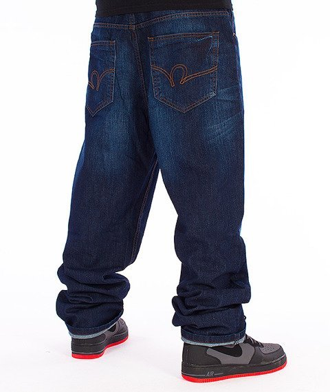 RocaWear-Mid Blue Loose Fit Spodnie Jeans R00J9914A 855