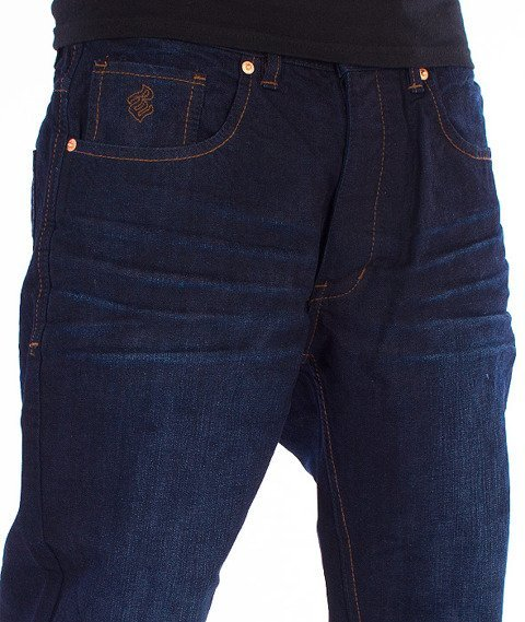 RocaWear-Mid Blue Relaxed Fit Spodnie Jeans R00J9911L 855