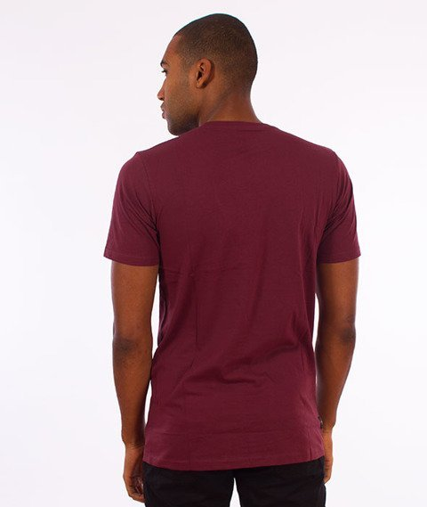 Rocawear-Rocawear Logo T-Shirt Bordowy