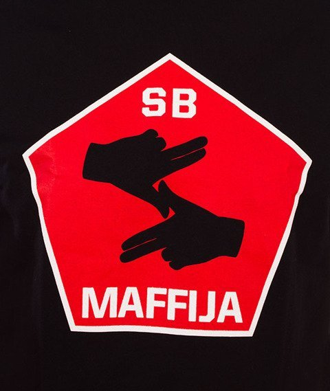 SB Maffija-Big Hands T-Shirt Czarny