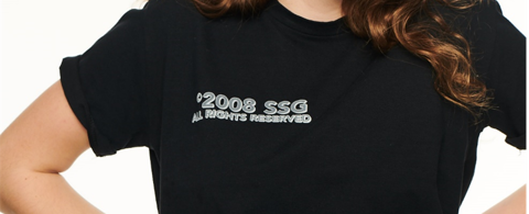 SSG Girls BASIC LOGO T-Shirt Czarny