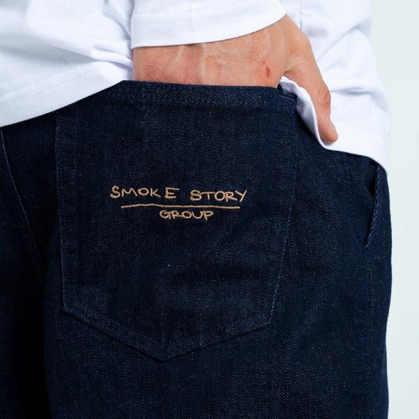 Smoke Story GROUP LINE Jogger Slim Jeans Dark