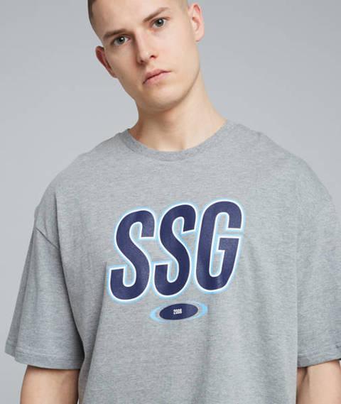 Smoke Story SSG DOUBLE T-Shirt Oversize Szary