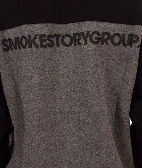 SmokeStory-08 Green Moro Bluza Ciemny Melanż/Czarny