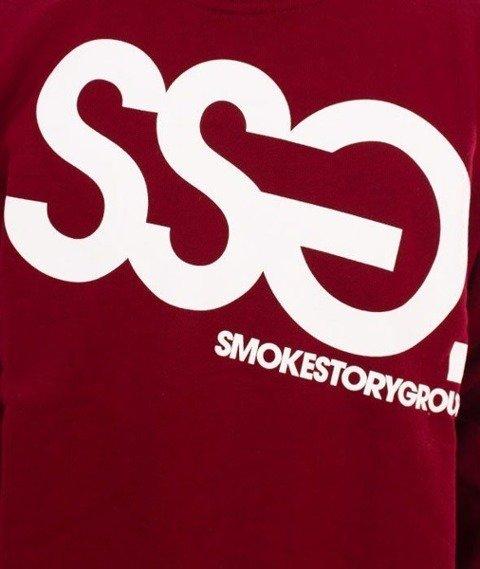 SmokeStory-Big Bluza Bordo