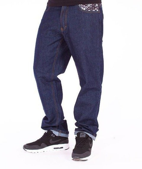 SmokeStory-Cans Slim Jeans Dark Blue